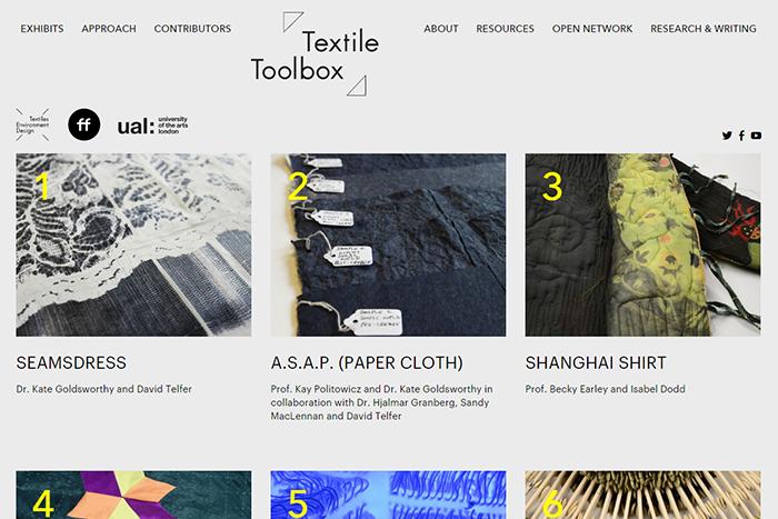 Textile toolbox